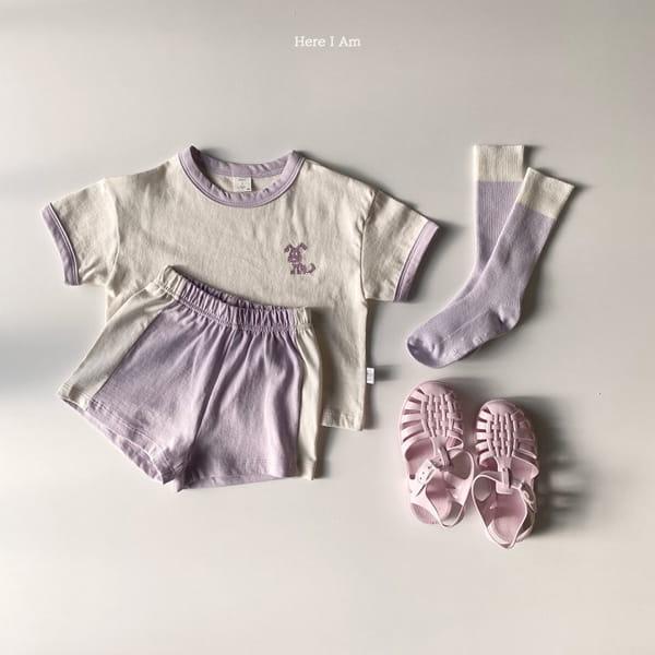 HERE I AM - Korean Children Fashion - #Kfashion4kids - Summer Animal Top Bototm Set - 11