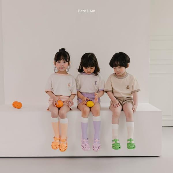 HERE I AM - Korean Children Fashion - #Kfashion4kids - Summer Animal Top Bototm Set - 7