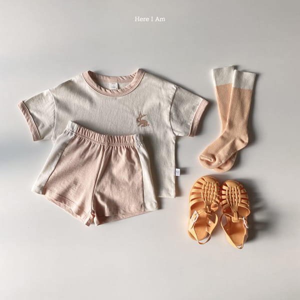 HERE I AM - Korean Children Fashion - #Kfashion4kids - Summer Animal Top Bototm Set - 9