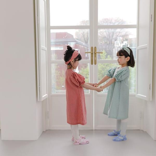 HERE I AM - Korean Children Fashion - #Kfashion4kids - Morley Check One-piece - 8