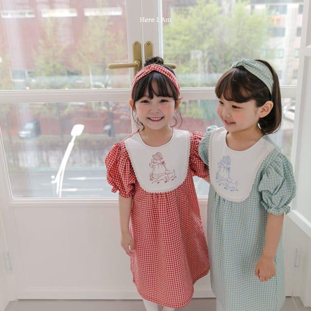 HERE I AM - BRAND - Korean Children Fashion - #Kfashion4kids - Morley Check One-piece