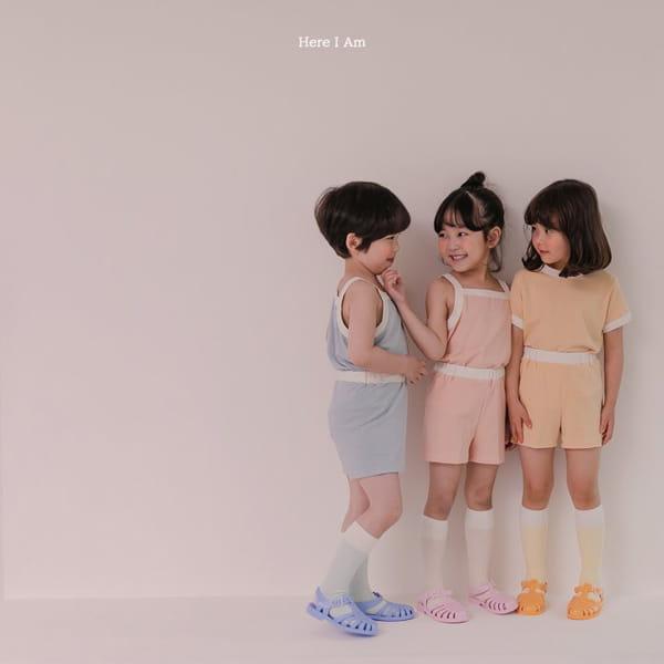 HERE I AM - Korean Children Fashion - #Kfashion4kids - Melo Cotton Span Top Bottom Set - 2