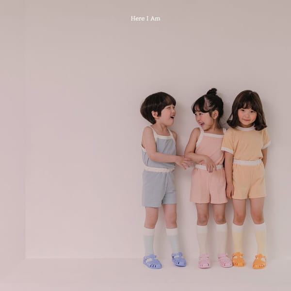 HERE I AM - Korean Children Fashion - #Kfashion4kids - Melo Cotton Span Top Bottom Set - 3