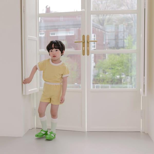 HERE I AM - Korean Children Fashion - #Kfashion4kids - Melo Cotton Span Top Bottom Set - 4