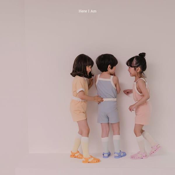 HERE I AM - Korean Children Fashion - #Kfashion4kids - Melo Cotton Span Top Bottom Set - 8