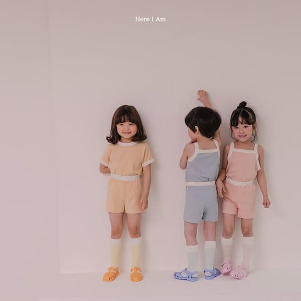 HERE I AM - Korean Children Fashion - #Kfashion4kids - Melo Cotton Span Top Bottom Set - 9