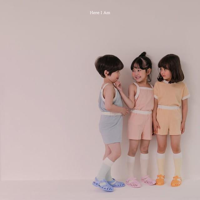 HERE I AM - BRAND - Korean Children Fashion - #Kfashion4kids - Melo Cotton Span Top Bottom Set