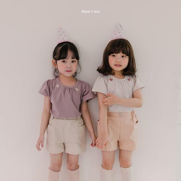 HERE I AM - Korean Children Fashion - #Kfashion4kids - Daisy Shirring Tee - 5