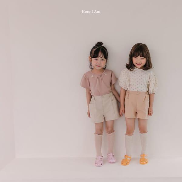 HERE I AM - Korean Children Fashion - #Kfashion4kids - Daisy Shirring Tee - 6