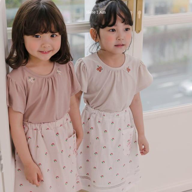 HERE I AM - BRAND - Korean Children Fashion - #Kfashion4kids - Daisy Shirring Tee