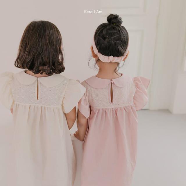 HERE I AM - BRAND - Korean Children Fashion - #Kfashion4kids - Flowery One-piece