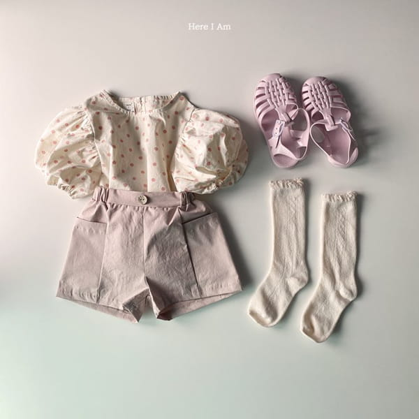 HERE I AM - Korean Children Fashion - #Kfashion4kids - Purine Dot Blouse - 11