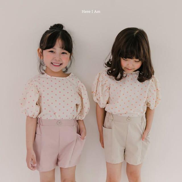HERE I AM - BRAND - Korean Children Fashion - #Kfashion4kids - Purine Dot Blouse