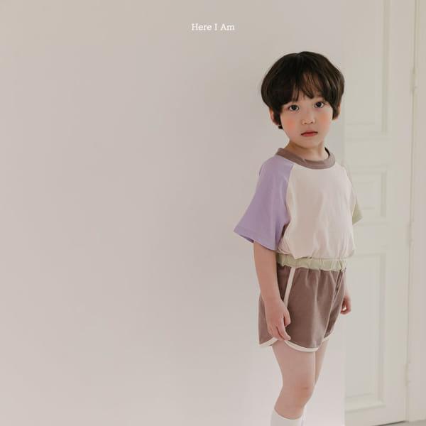 HERE I AM - Korean Children Fashion - #Kfashion4kids - Plate Top Bottom Set - 3
