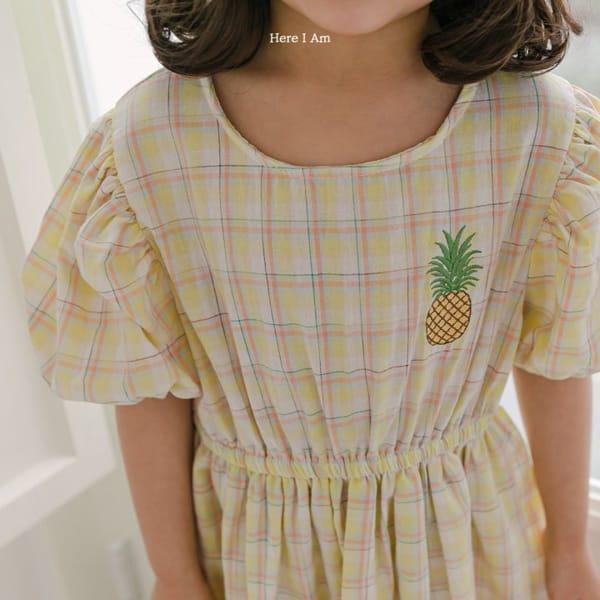 HERE I AM - Korean Children Fashion - #Kfashion4kids - Pineapple Tulip One-piece - 8