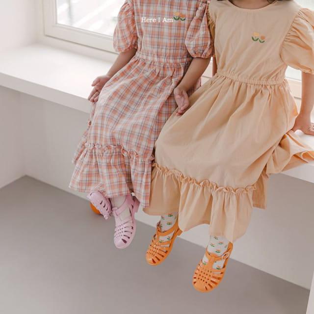 HERE I AM - BRAND - Korean Children Fashion - #Kfashion4kids - Pineapple Tulip One-piece