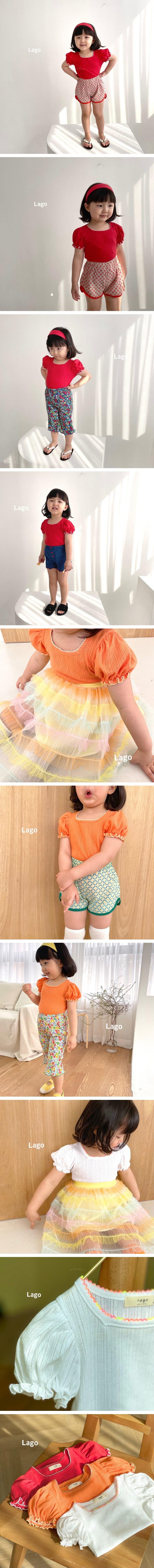 LAGO - Korean Children Fashion - #Kfashion4kids - Islet Puff Tee