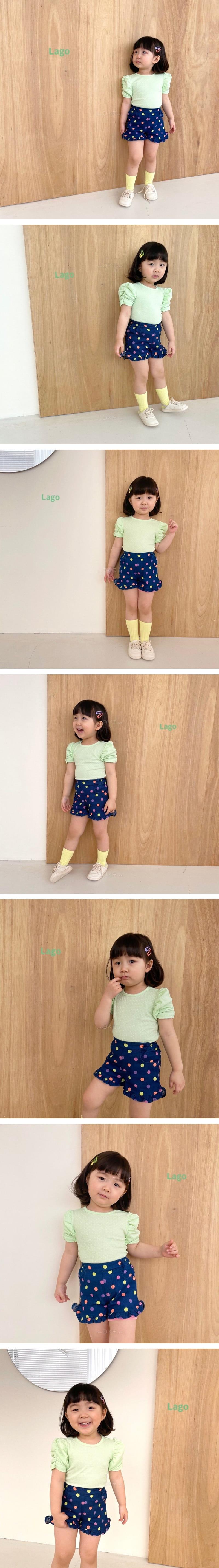 LAGO - Korean Children Fashion - #Kfashion4kids - Neon Dot Frill Pants