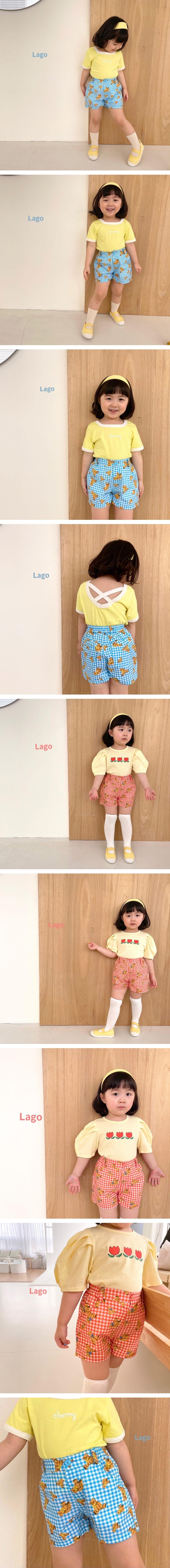 LAGO - Korean Children Fashion - #Kfashion4kids - Bear Check Pants