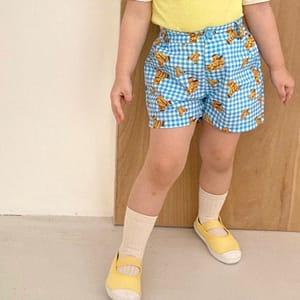 LAGO - BRAND - Korean Children Fashion - #Kfashion4kids - Bear Check Pants