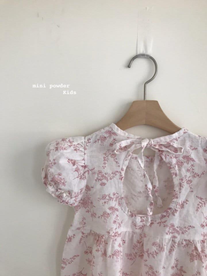 MINI POWDER - Korean Children Fashion - #Kfashion4kids - Back Slit Flower One-piece - 10
