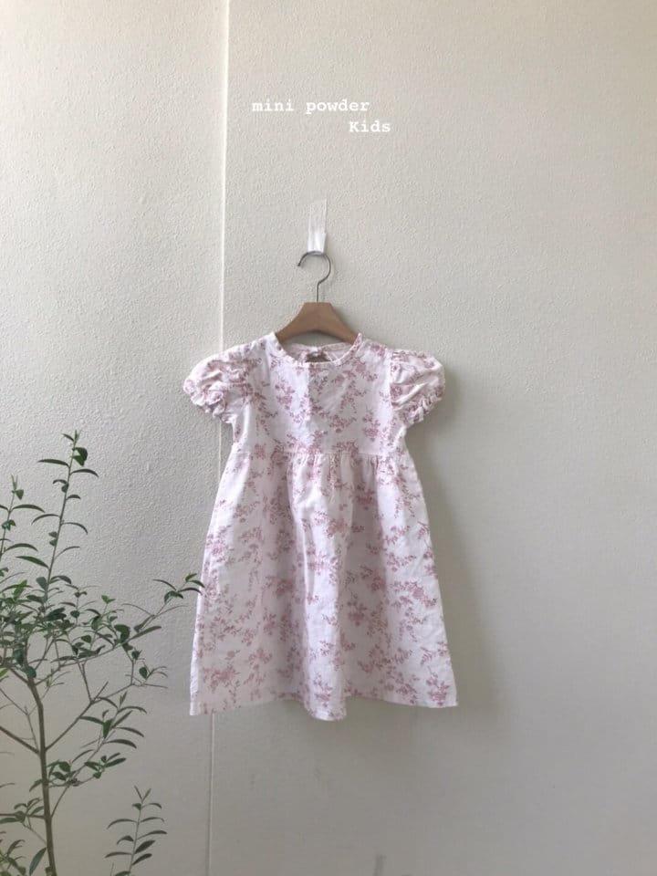 MINI POWDER - Korean Children Fashion - #Kfashion4kids - Back Slit Flower One-piece - 2