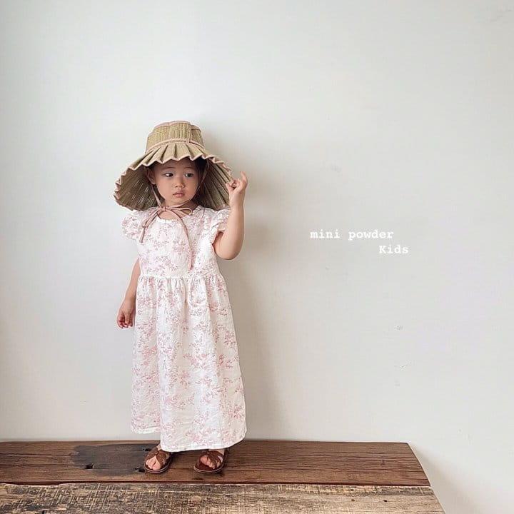 MINI POWDER - Korean Children Fashion - #Kfashion4kids - Back Slit Flower One-piece - 5