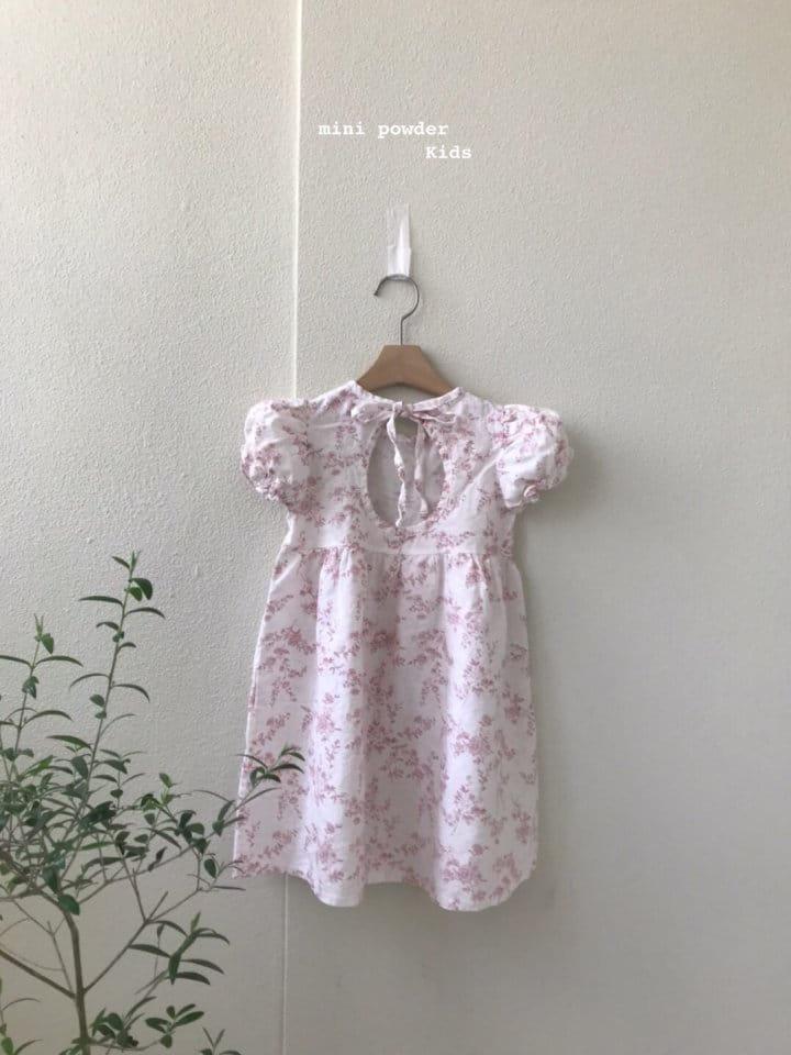 MINI POWDER - Korean Children Fashion - #Kfashion4kids - Back Slit Flower One-piece - 8