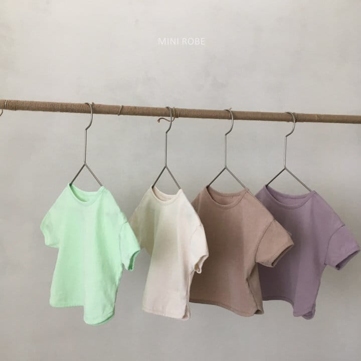 MINI ROBE - Korean Children Fashion - #Kfashion4kids - Basic Tee
