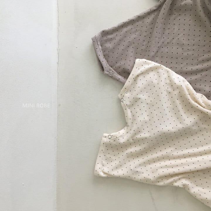 MINI ROBE - Korean Children Fashion - #Kfashion4kids - Dots Bodysuit - 10