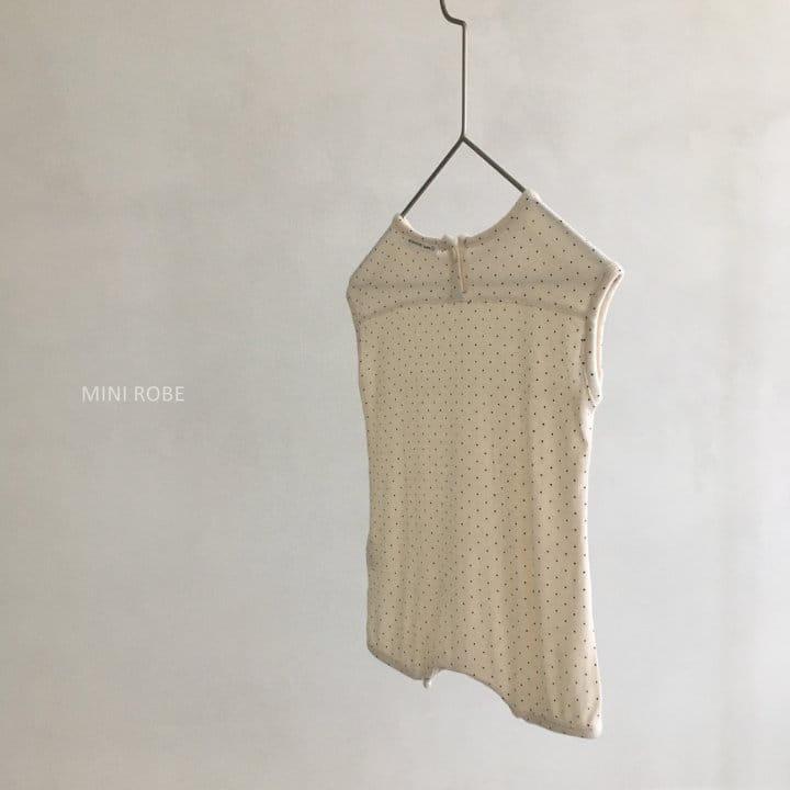 MINI ROBE - Korean Children Fashion - #Kfashion4kids - Dots Bodysuit - 6