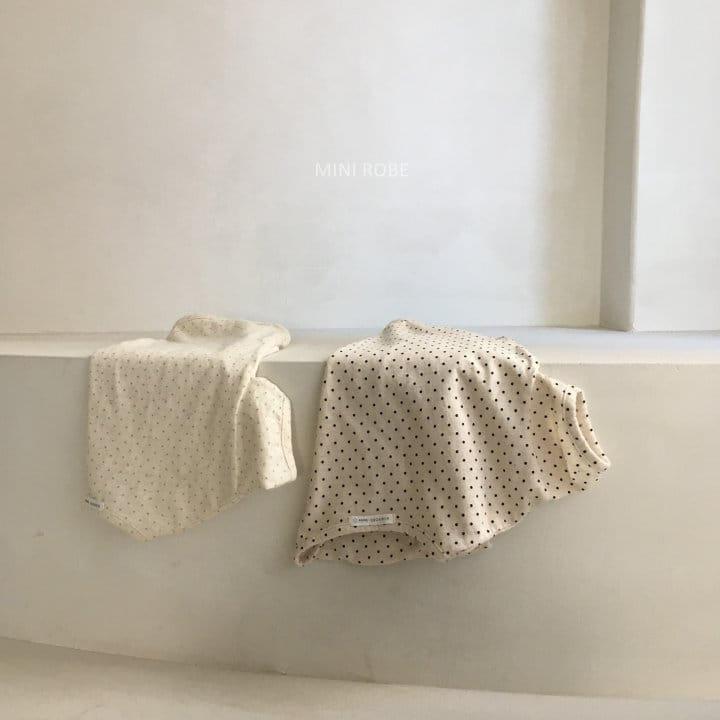 MINI ROBE - Korean Children Fashion - #Kfashion4kids - Dots Tee - 10