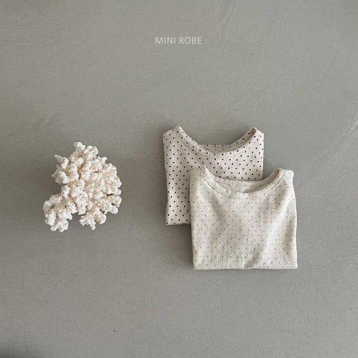 MINI ROBE - Korean Children Fashion - #Kfashion4kids - Dots Tee - 2