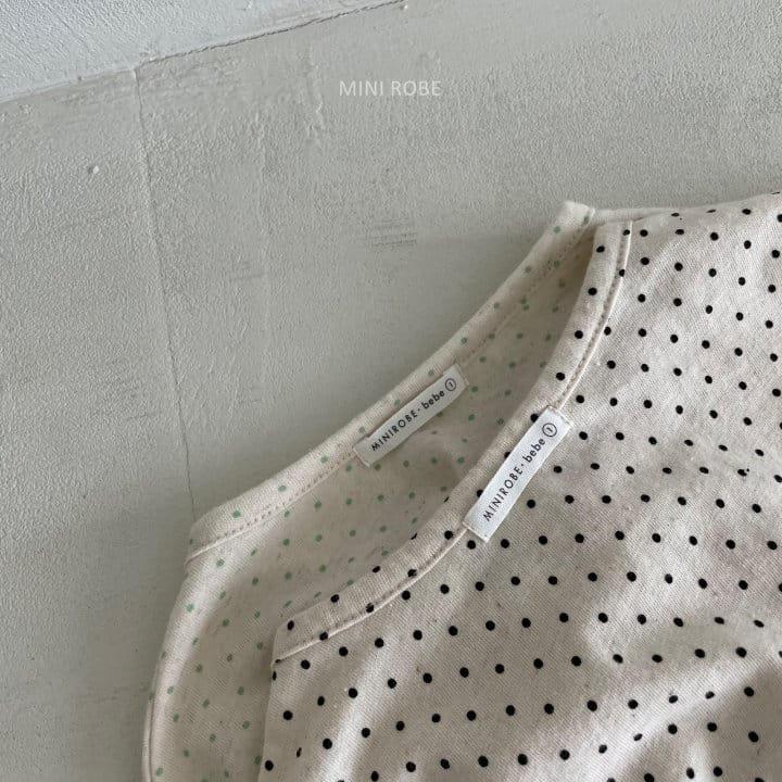 MINI ROBE - Korean Children Fashion - #Kfashion4kids - Dots Tee - 3