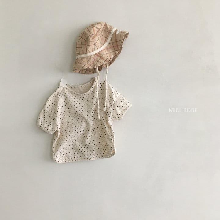 MINI ROBE - Korean Children Fashion - #Kfashion4kids - Dots Tee - 6