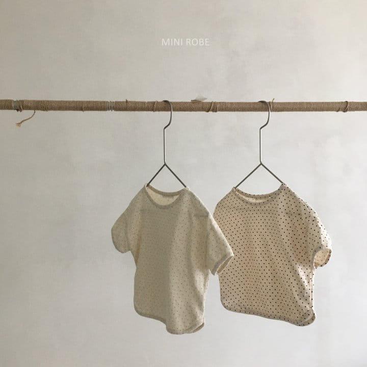 MINI ROBE - Korean Children Fashion - #Kfashion4kids - Dots Tee - 7
