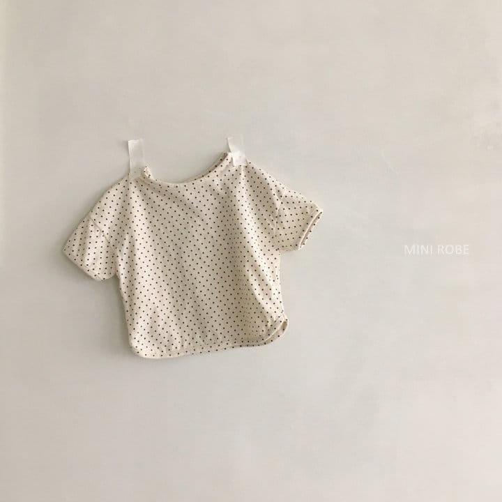 MINI ROBE - Korean Children Fashion - #Kfashion4kids - Dots Tee - 8