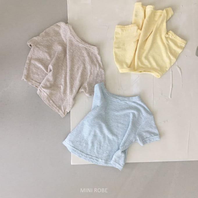 MINI ROBE - Korean Children Fashion - #Kfashion4kids - Stripes Tee