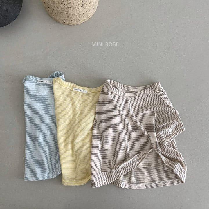 MINI ROBE - Korean Children Fashion - #Kfashion4kids - Stripes Tee - 10