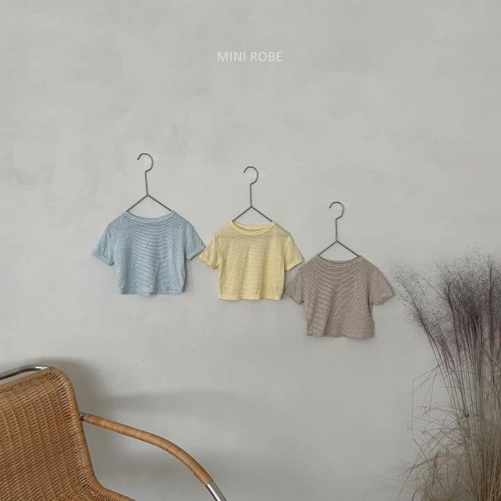 MINI ROBE - Korean Children Fashion - #Kfashion4kids - Stripes Tee - 12
