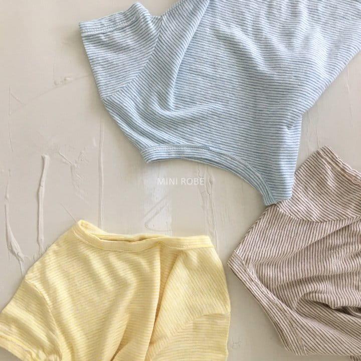 MINI ROBE - Korean Children Fashion - #Kfashion4kids - Stripes Tee - 3