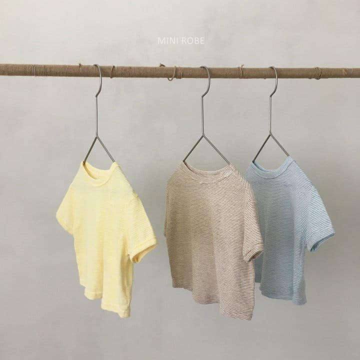MINI ROBE - Korean Children Fashion - #Kfashion4kids - Stripes Tee - 4