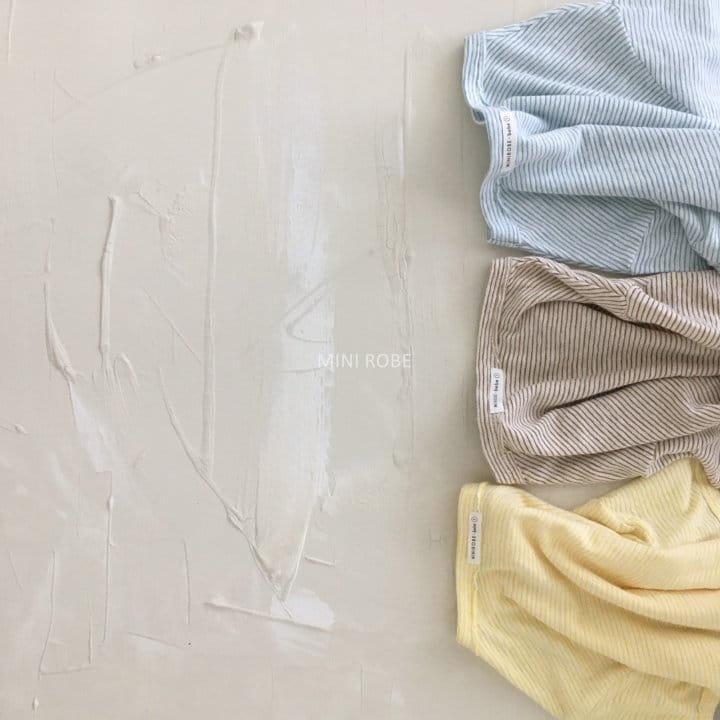 MINI ROBE - Korean Children Fashion - #Kfashion4kids - Stripes Tee - 6