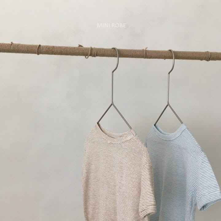 MINI ROBE - Korean Children Fashion - #Kfashion4kids - Stripes Tee - 7