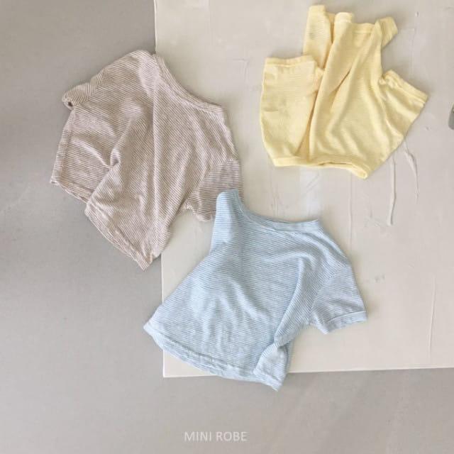 MINI ROBE - BRAND - Korean Children Fashion - #Kfashion4kids - Stripes Tee