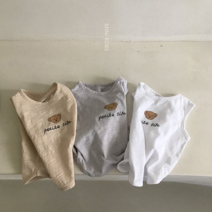 MINI ROBE - Korean Children Fashion - #Kfashion4kids - Teddy Bear Sleeveless