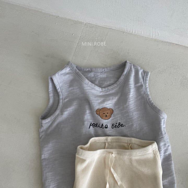 MINI ROBE - Korean Children Fashion - #Kfashion4kids - Teddy Bear Sleeveless - 12