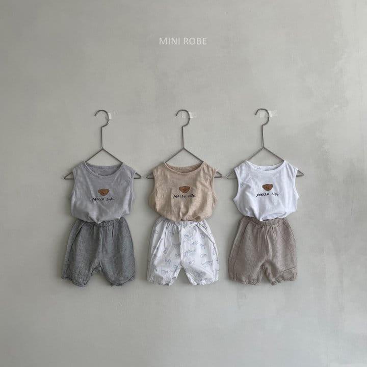 MINI ROBE - Korean Children Fashion - #Kfashion4kids - Teddy Bear Sleeveless - 3