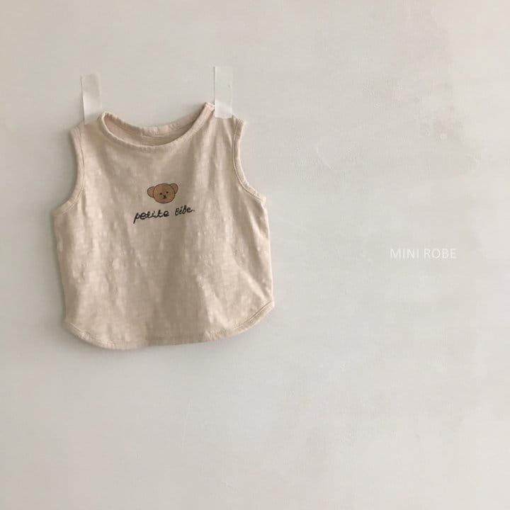 MINI ROBE - Korean Children Fashion - #Kfashion4kids - Teddy Bear Sleeveless - 6