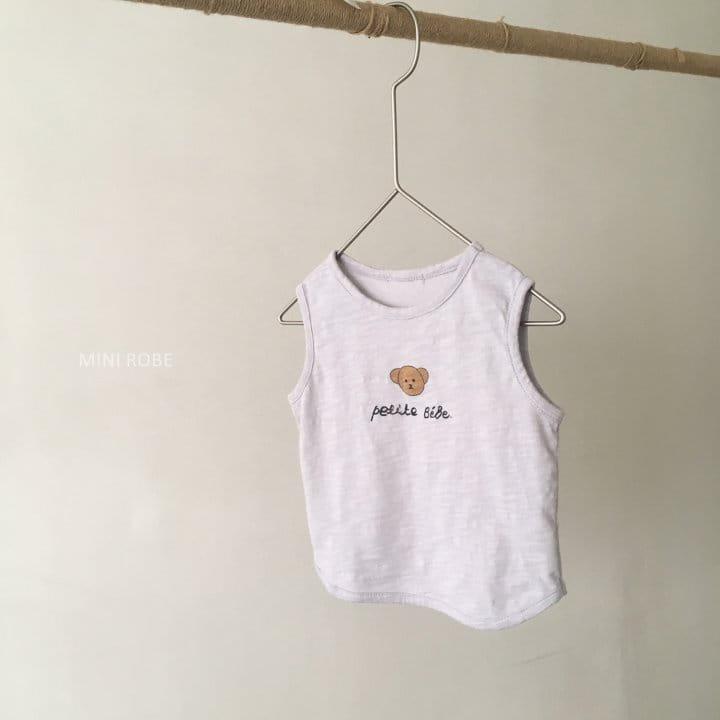 MINI ROBE - Korean Children Fashion - #Kfashion4kids - Teddy Bear Sleeveless - 8